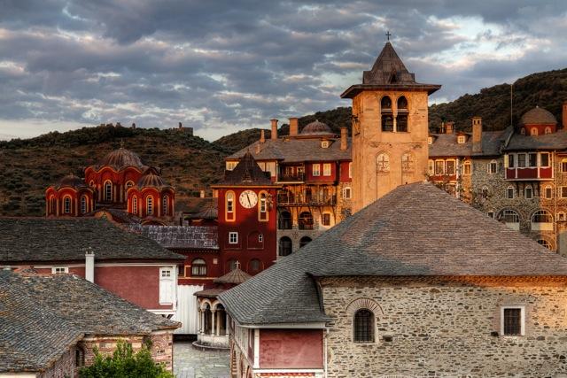 Ватопедский монастырь, Святая гора Афон, Греция, 2011 год