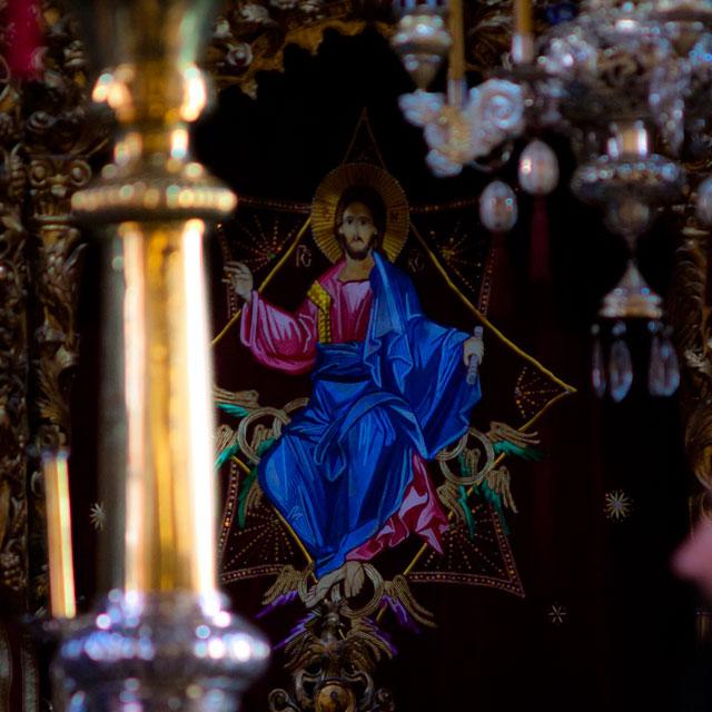 ватопедский монастырь детали: занавесь царских врат Ватопедского собора