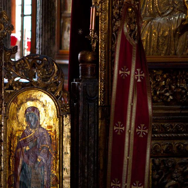 ватопедский монастырь детали: царские врата соборного храма обители