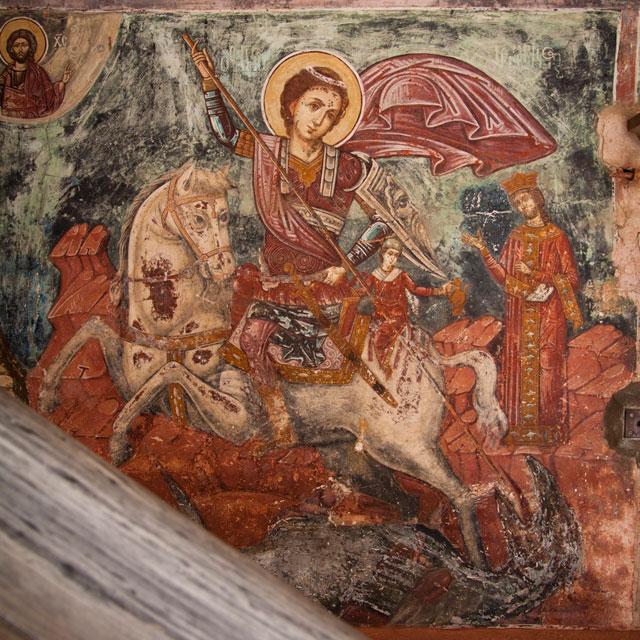 ватопедский монастырь: лестница на галереи второго этажа собора