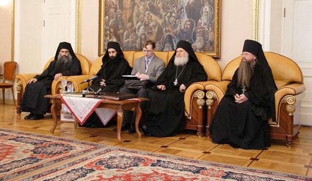 встреча с игуменом Ватопедского монастыря