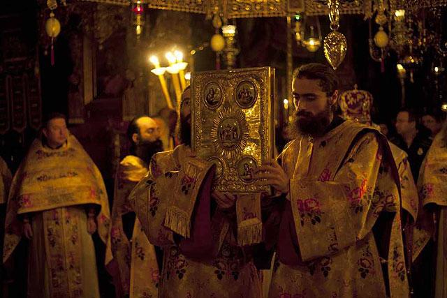 литургия Ватопедского монастыря без настоятеля Ефрема