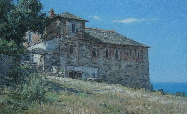 Афонские пейзажи Антона Овсянникова