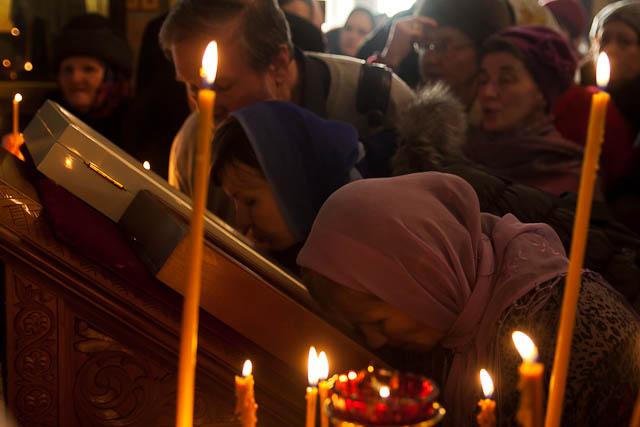 на молебне об освобождении архимандрита Ефрема