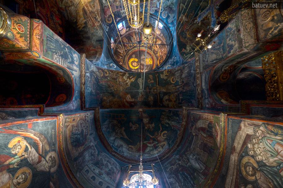 Соборный храм Ватопедского монастыря, фрески