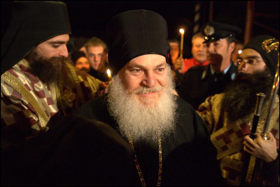 архимандрит Ефрем в монастыре Ватопед. Освобождение.