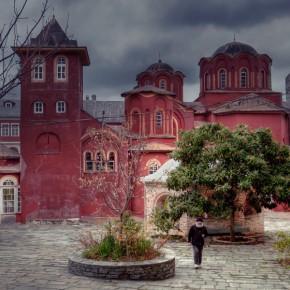 Зимний Ватопед.