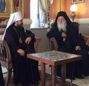 Председатель Отдела внешних церковных связей митр. Волоколамский Иларион посетил ряд монастырей на Афоне