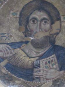 Христос Пантократор. Фрагмент мозаики. Храм Панагии Паригоритиссы, Арта, Греция. 1290 г.